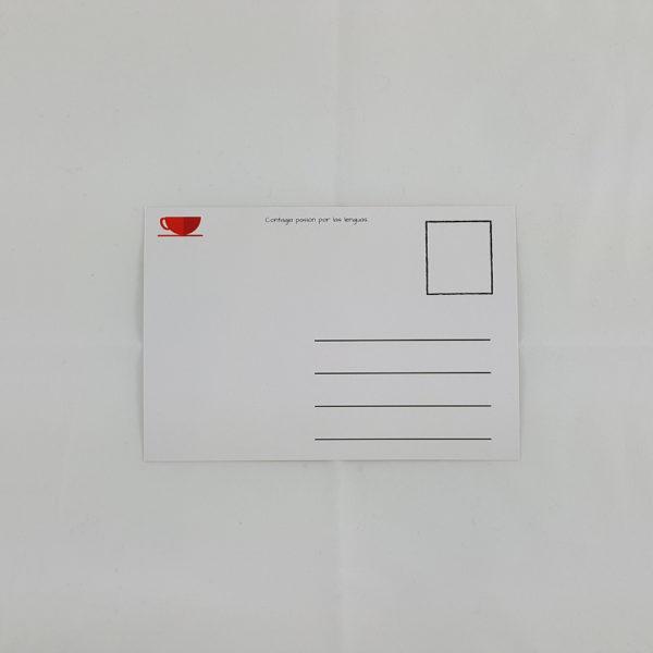 Postal - Café con letras