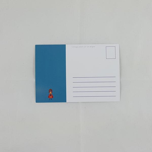 Postal - Pon una coma en tu vida heroína